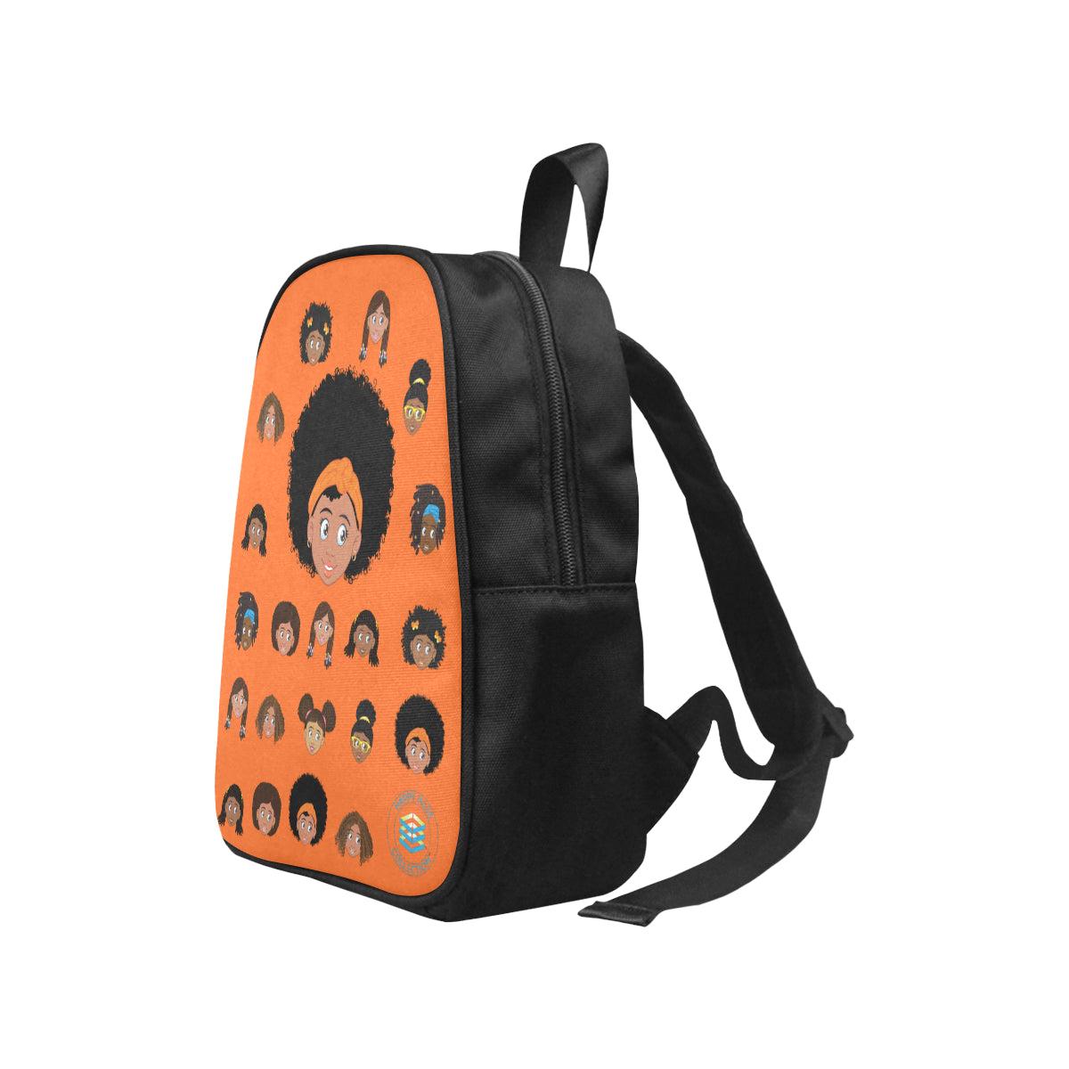 Orange Girl with Afro Mini Backpack