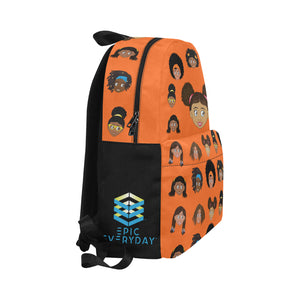African American Girls Orange EPIC EVERYDAY Backpack