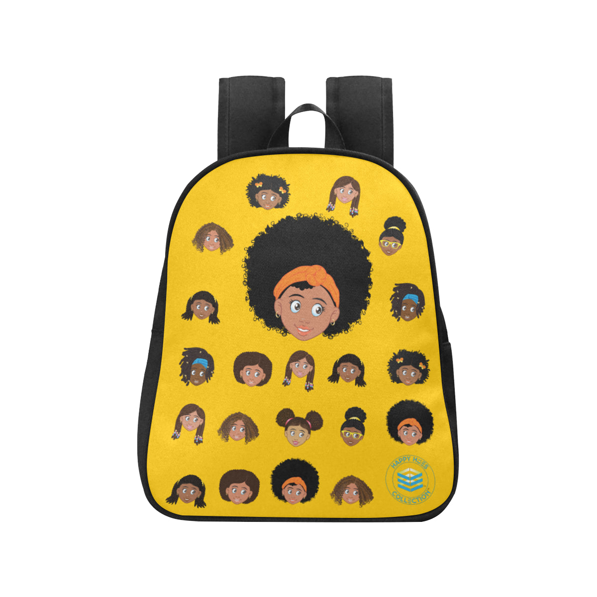 Yellow Girl with Afro Mini Backpack