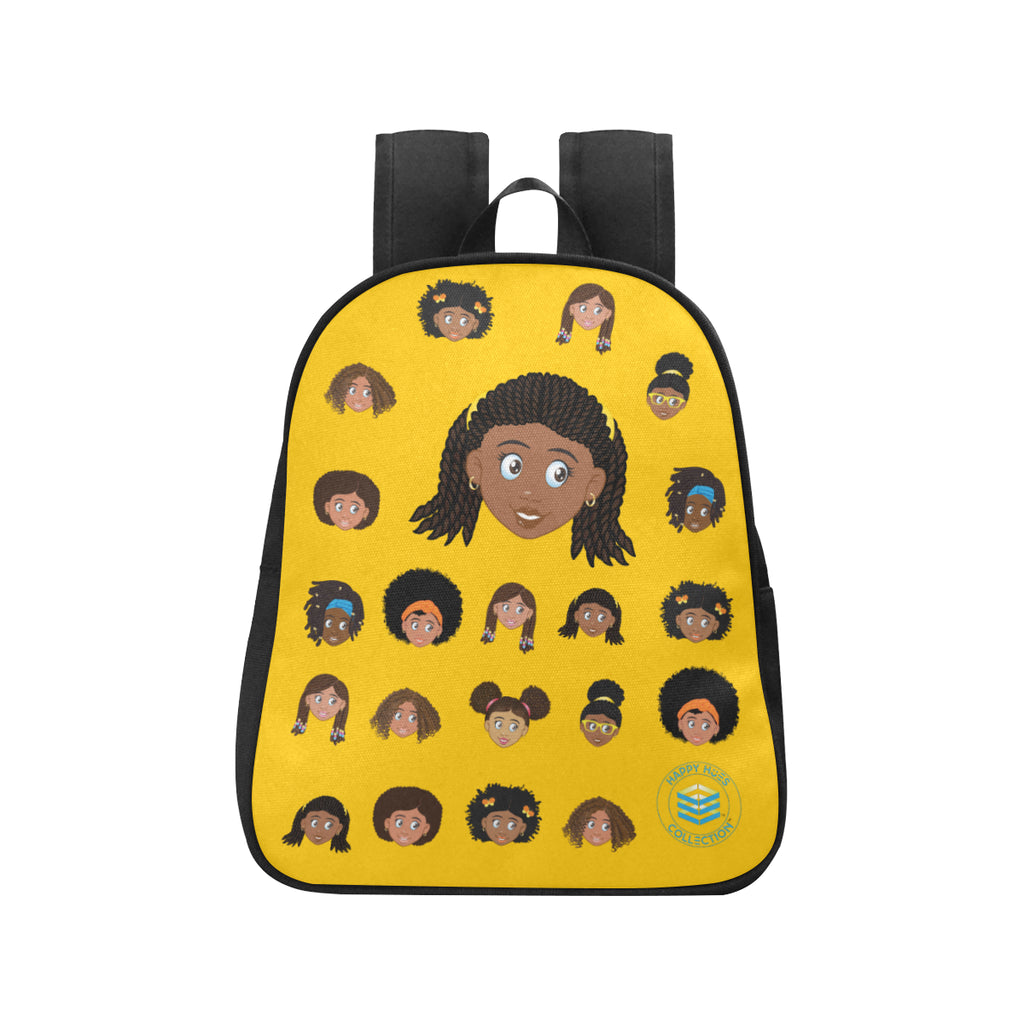 Yellow Girl with Twists Mini Backpack