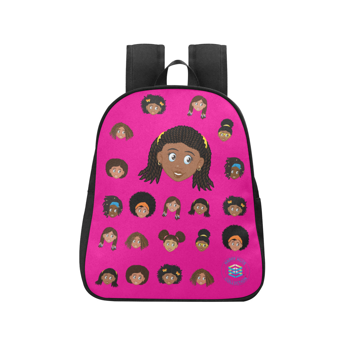 Hot Pink Girl with Twists Mini Backpack