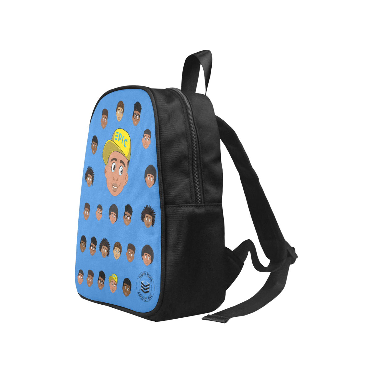 Blue Boy with Hat Mini Backpack