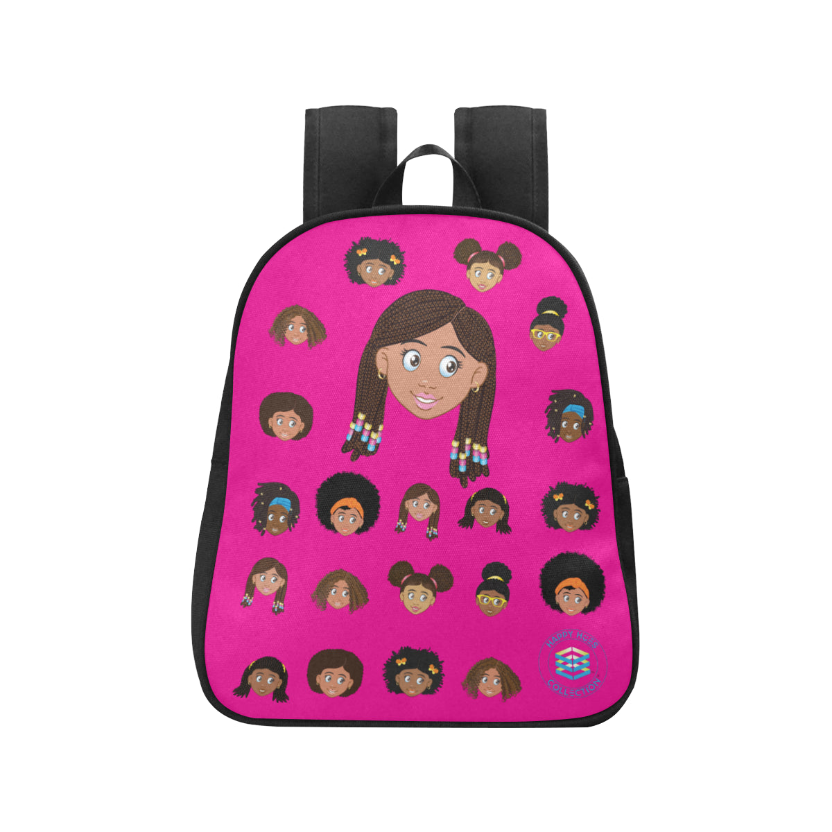 Hot Pink Girl with Beads Mini Backpack