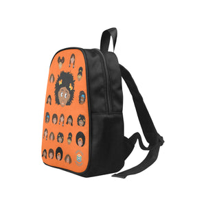 Orange Girl with Butterfly Mini Backpack