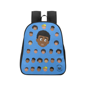 Blue Boy with Coils Mini Backpack