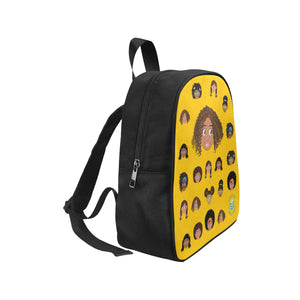 Yellow Girl with Curly-Hair Mini Backpack