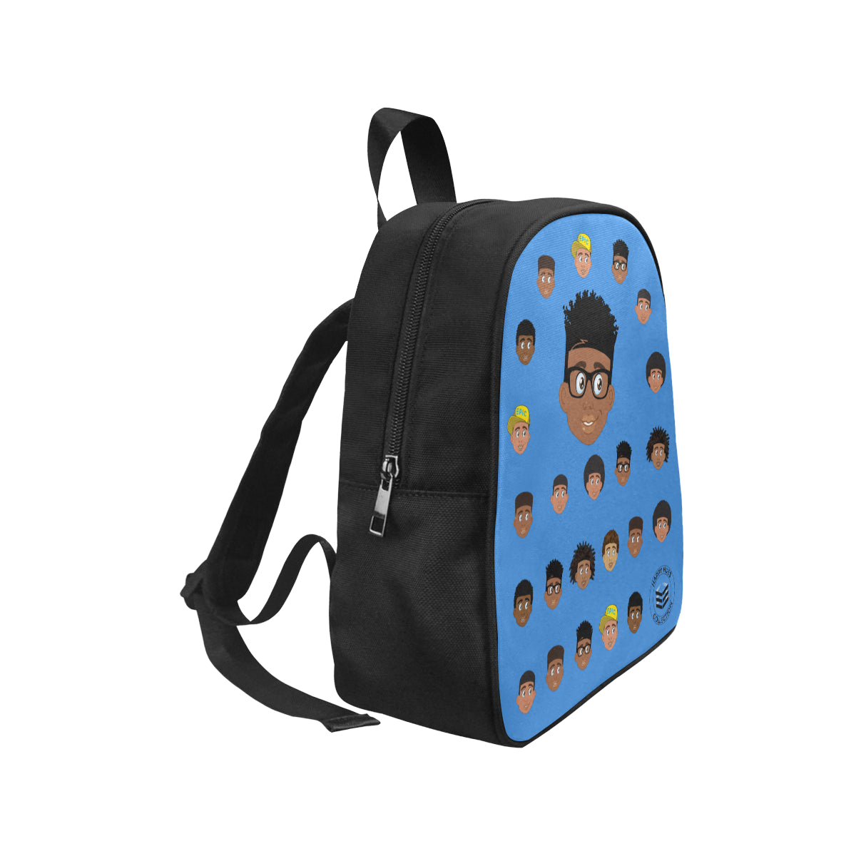 Blue Boy with Glasses Mini Backpack