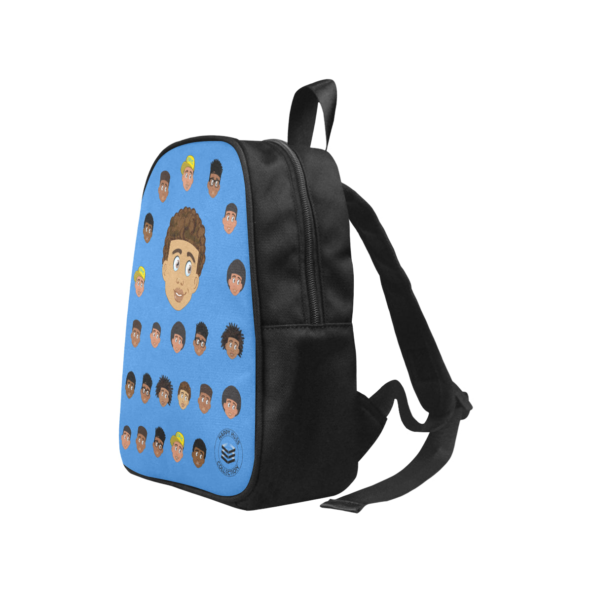 Blue Boy with Curly-Hair Mini Backpack