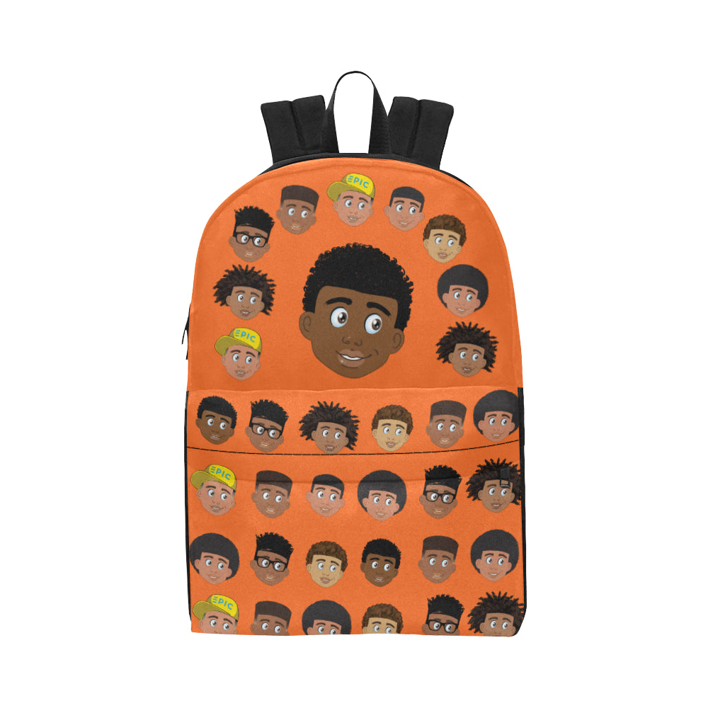 African American Boys Orange EPIC EVERYDAY Backpack