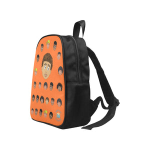 Orange Boy with Curly-Hair Mini Backpack