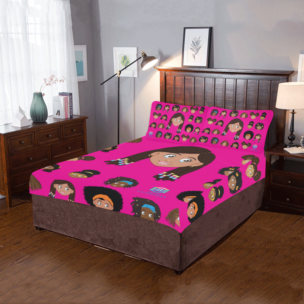 Girl with Beads Twin/Full Duvet Cover Set (inserts are NOT included)