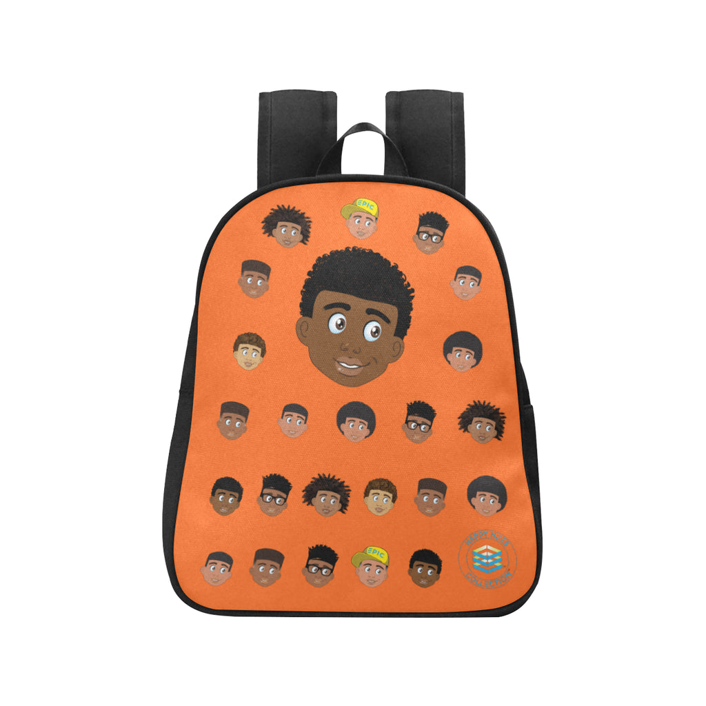 Orange Boy with Coils Mini Backpack