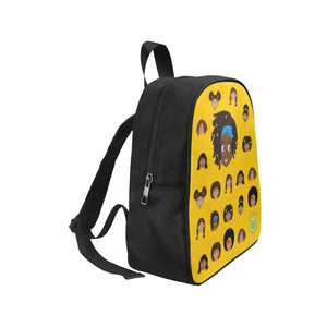 Yellow Girl with Locs Mini Backpack