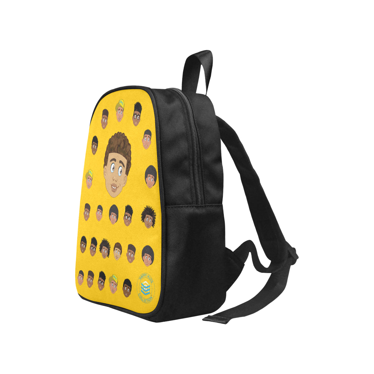Yellow Boy with Curly-Hair Mini Backpack