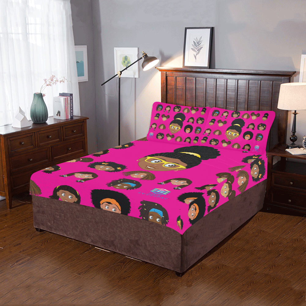 Girl Glasses Twin/Full Duvet Cover Set (inserts are NOT included)