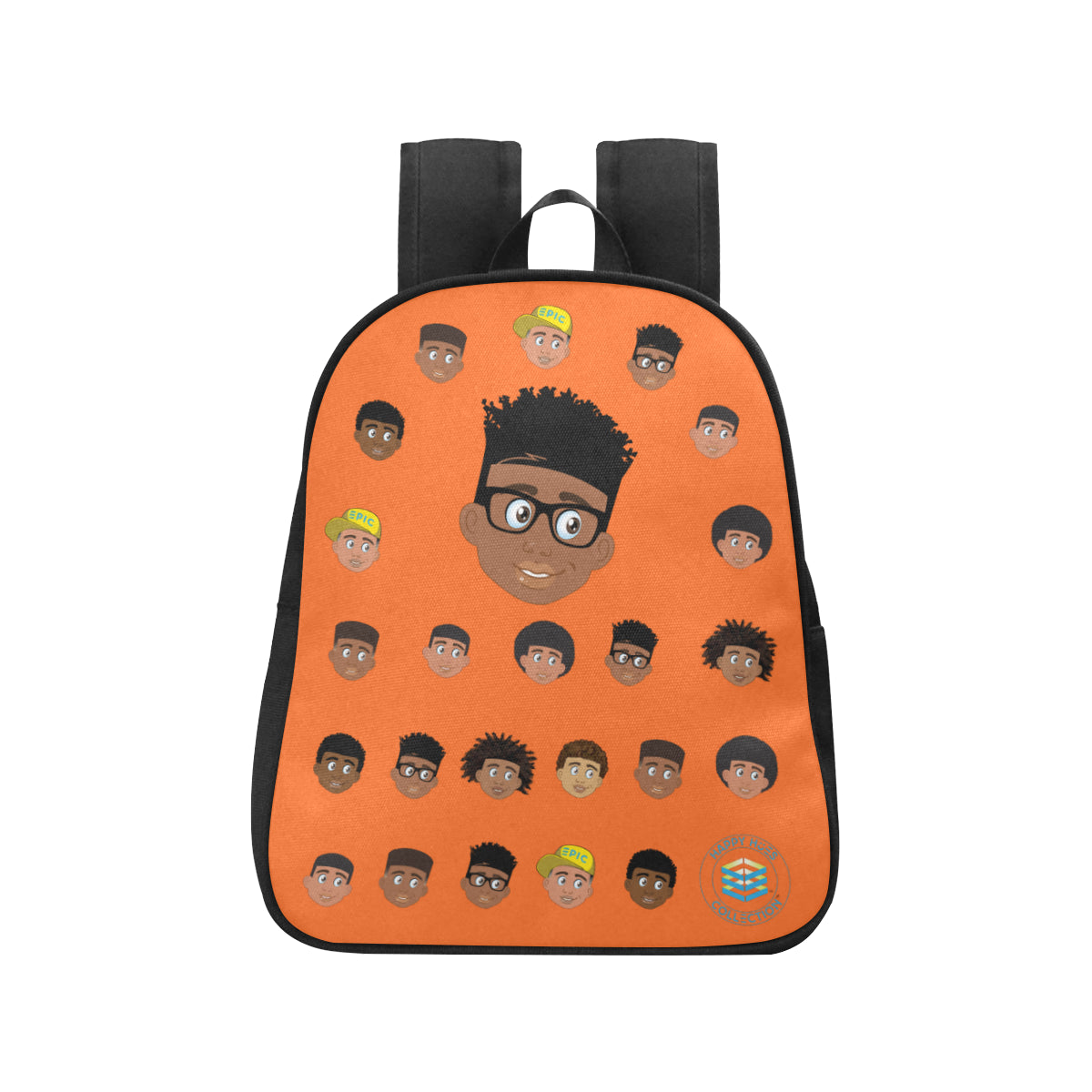Orange Boy with Glasses Mini Backpack