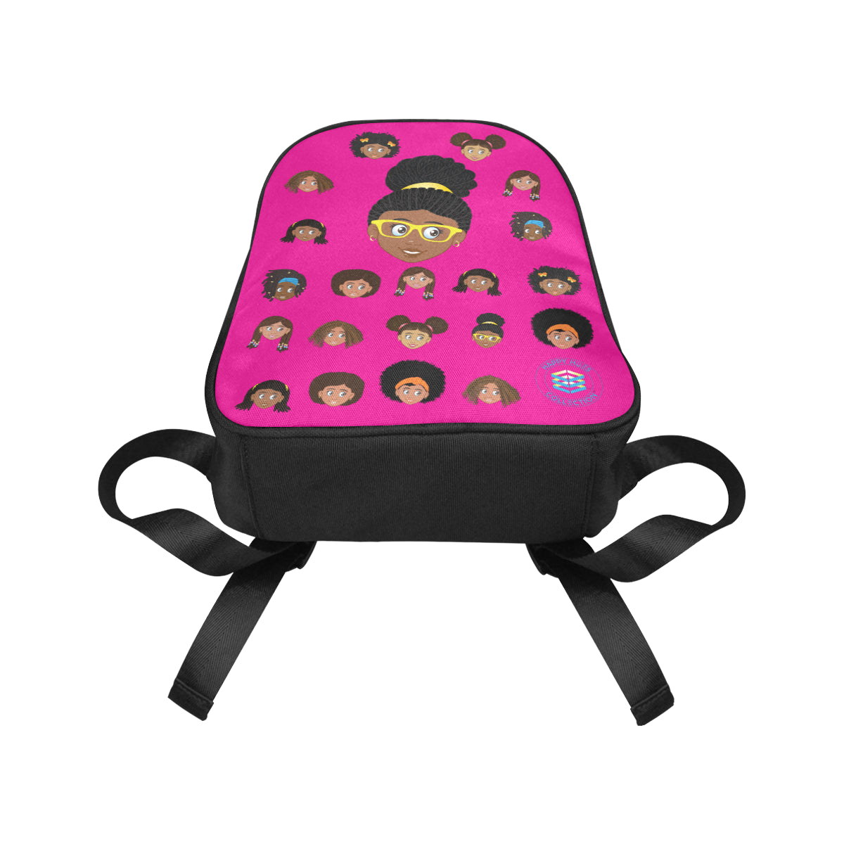 Hot Pink Girl with Glasses Mini Backpack