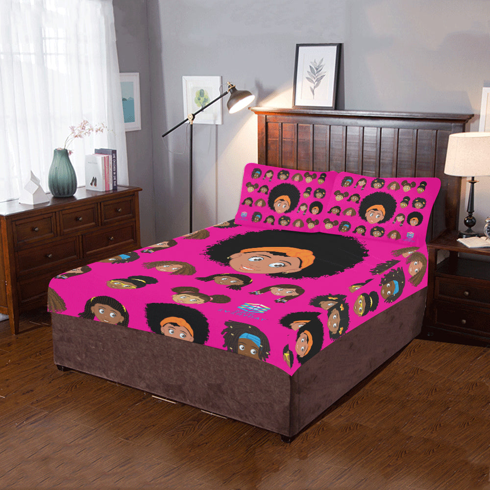 Girl Afro Twin/Full Duvet Cover Set (inserts are NOT included)