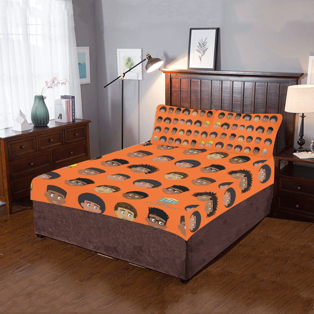All Boys Twin/Full Duvet Cover Set (inserts are NOT included)