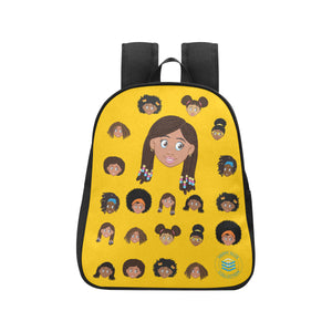 Yellow Girl with Beads Mini Backpack