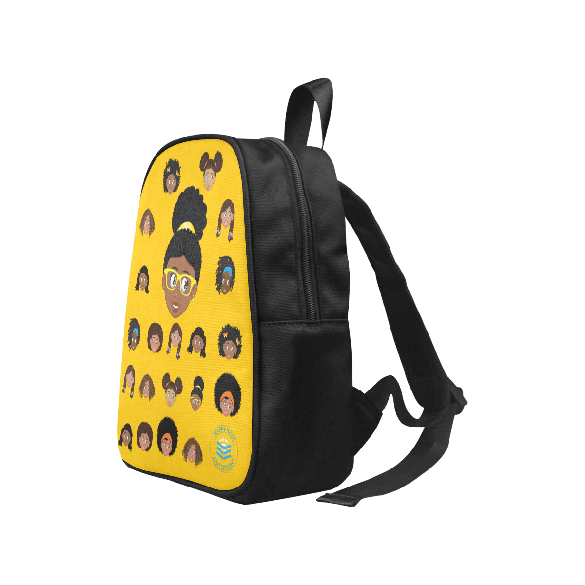 Yellow Girl with Glasses Mini Backpack