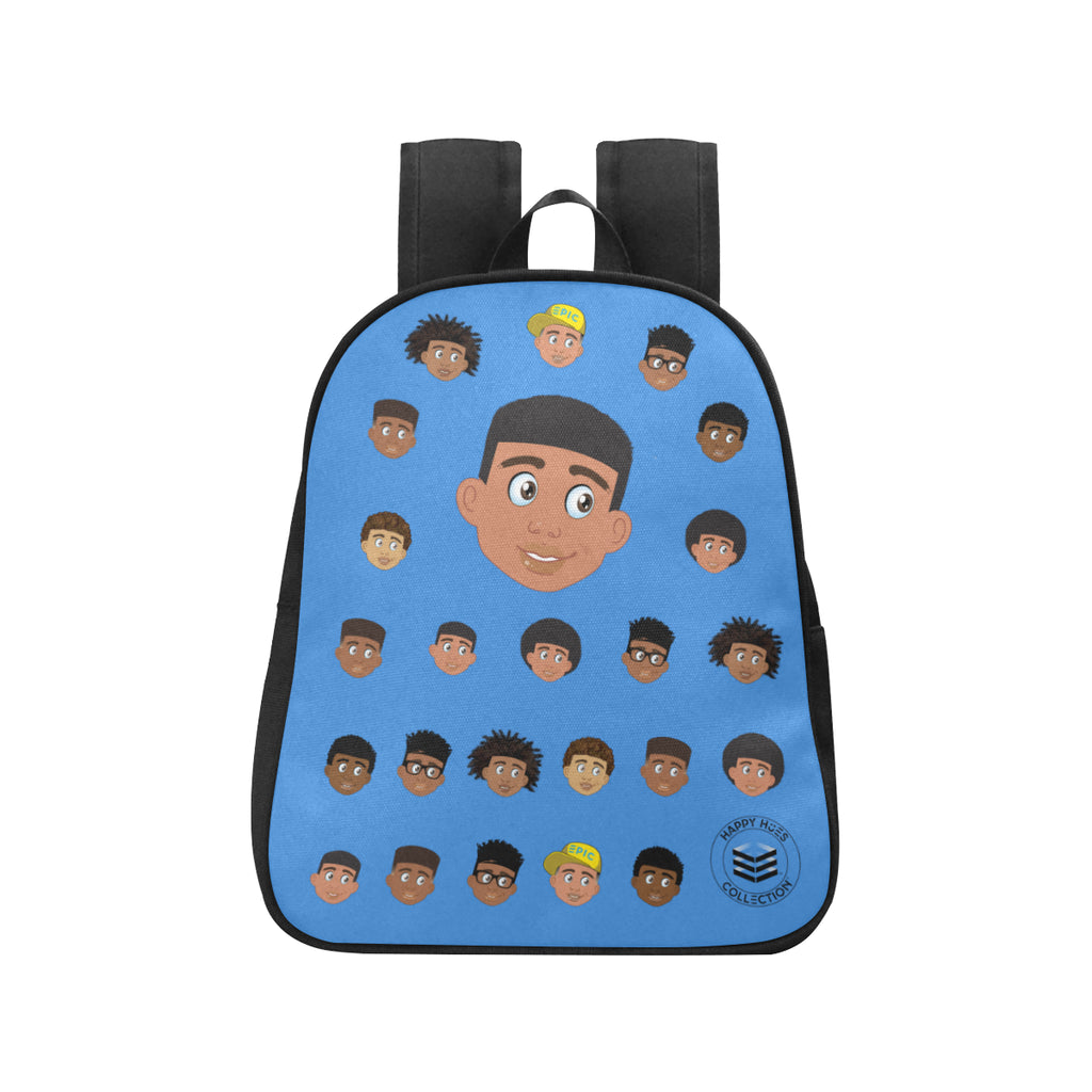 Blue Boy with Short-Hair Mini Backpack