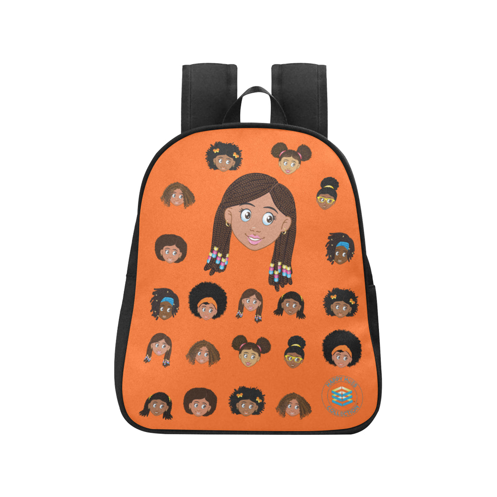 Orange Girl with Beads Mini Backpack