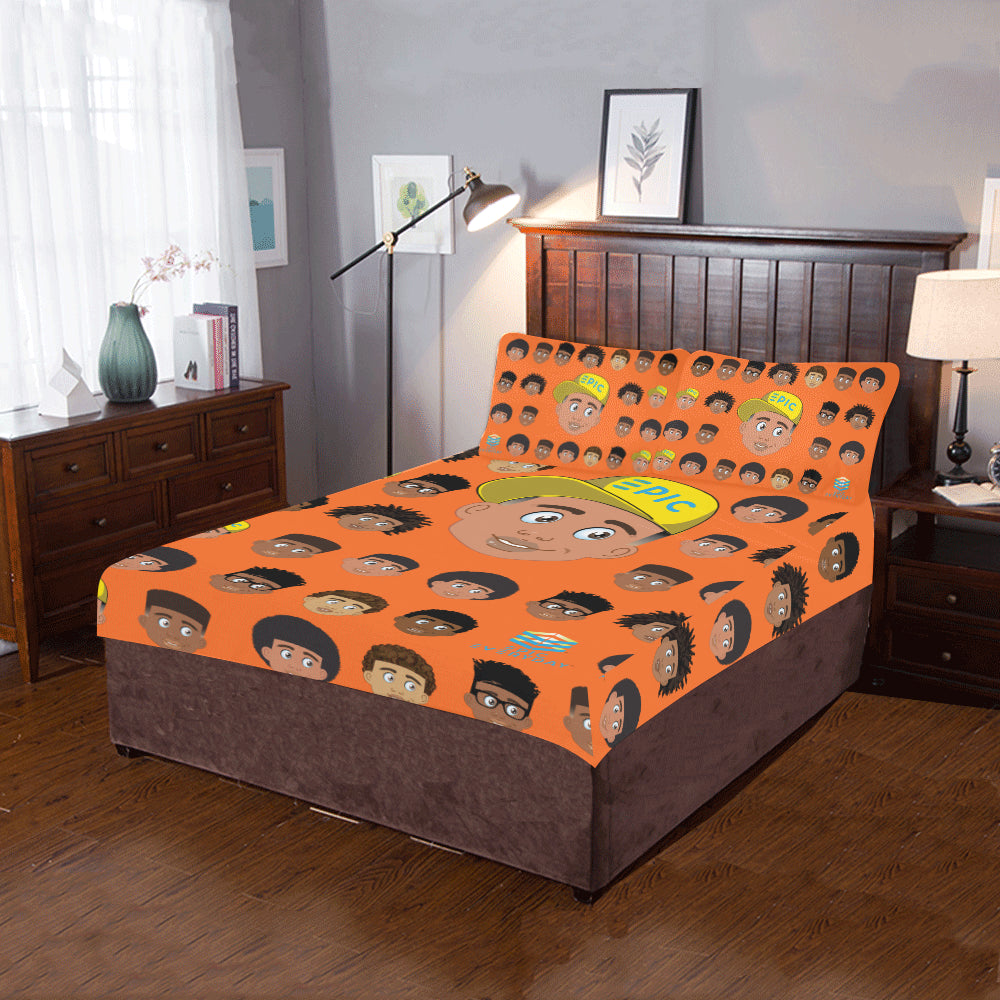 Boy with Hat Twin/Full Duvet Cover Set (inserts are NOT included)