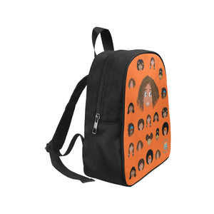 Orange Girl with Curly-Hair Mini Backpack