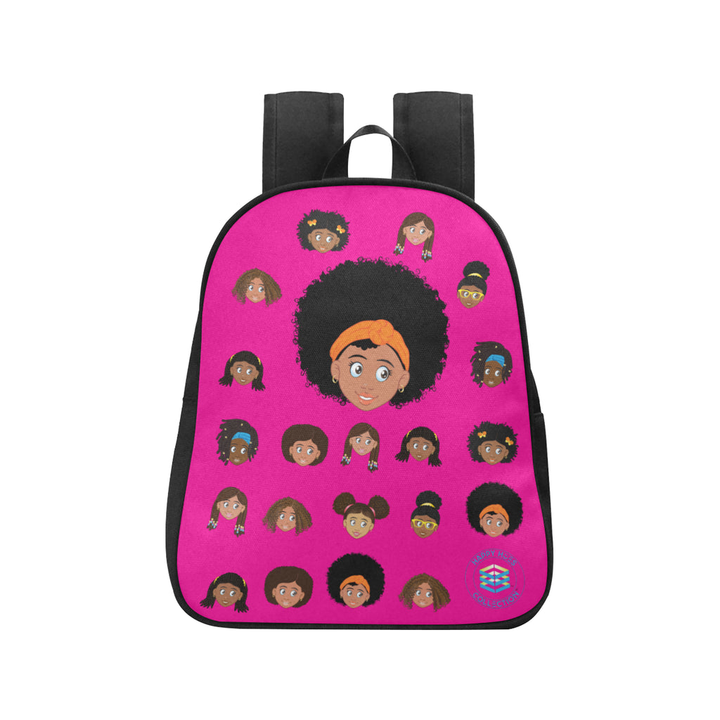 Pink Girl with Afro Mini Backpack