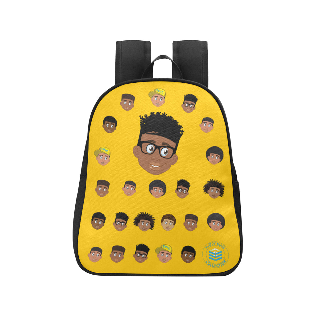 Yellow Boy with Glasses Mini Backpack
