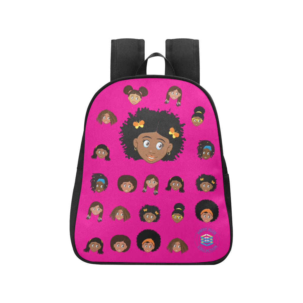 Hot Pink Girl with Butterfly Mini Backpack