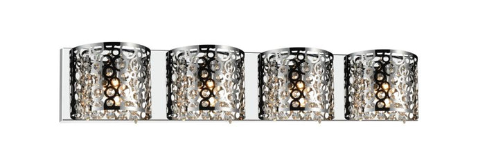 4-Piece Metal Decorative Wall-Mounted Bathroom Light Fixture