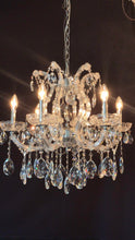 Load image into Gallery viewer, Traditional Crystal and Glass LED / Halogen Chandelier