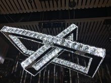 Load image into Gallery viewer, Modern Square LED Crystal Pendant