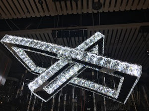 Modern Square LED Crystal Pendant