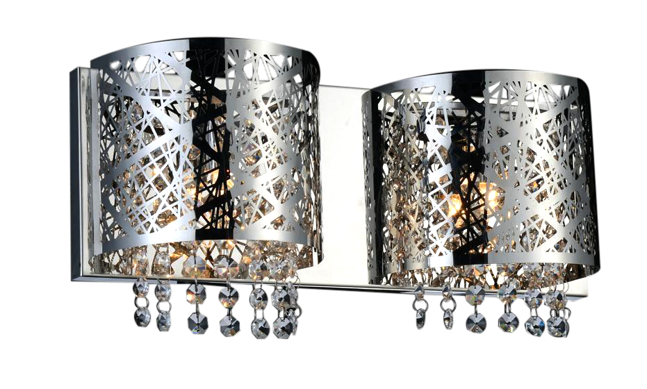 2-Piece Metal Decorative Wall-Mounted Bathroom Light Fixture