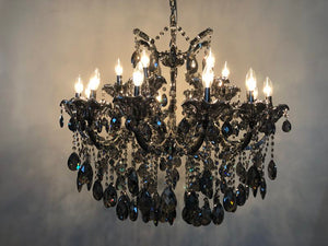 Gloria Gray -  Traditional Crystal and Glass LED / Halogen Chandelier