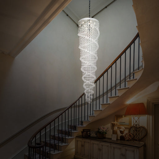 Modern and Sophisticated Crystal Raindrop Chandelier