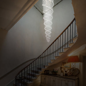 AllBright - Large Modern Flush Mount and Sophisticated Crystal Raindrop Chandelier