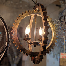 Load image into Gallery viewer, Contemporary Hanging Cog Pendant Light