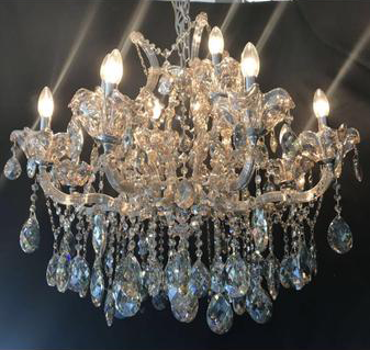 Crystal & Glass LED / Halogen Chandelier