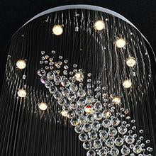 Load image into Gallery viewer, Elegant Spiral Crystal Chandelier