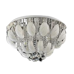 Flush Mount Crystal & Glass Ceiling Light