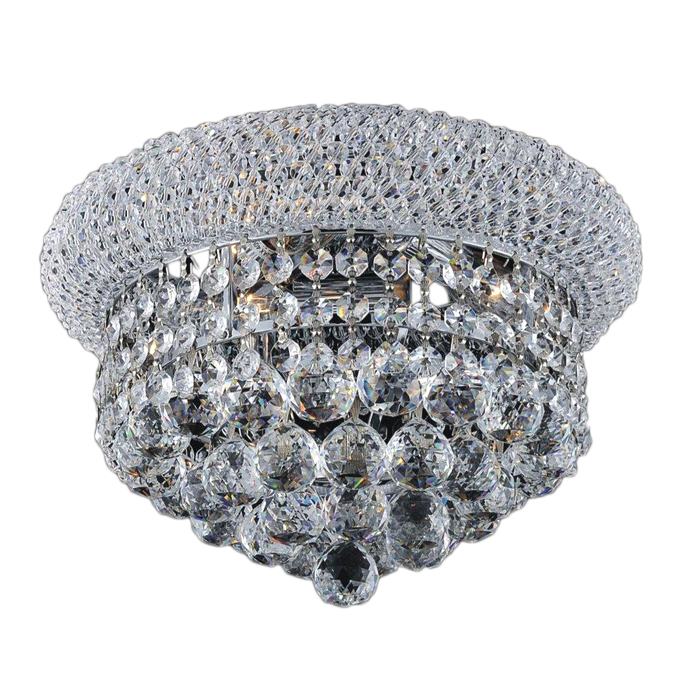Flushmount Crystal Beaded Ceiling Light