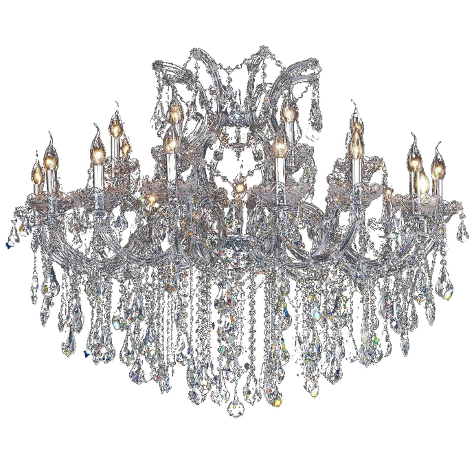 Large Elegant Crystal Chandelier