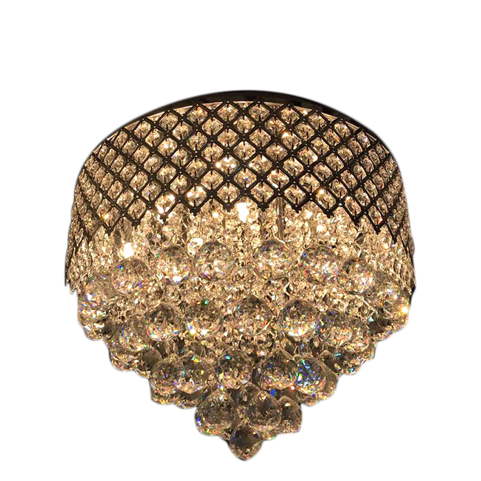 Luxurious Crystal Pendant  Semi Flush Mount Light Fixture