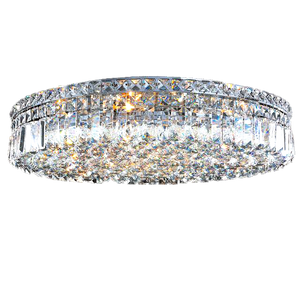 Luxurious Traditional Flush Mount Crystal Ceiling Light