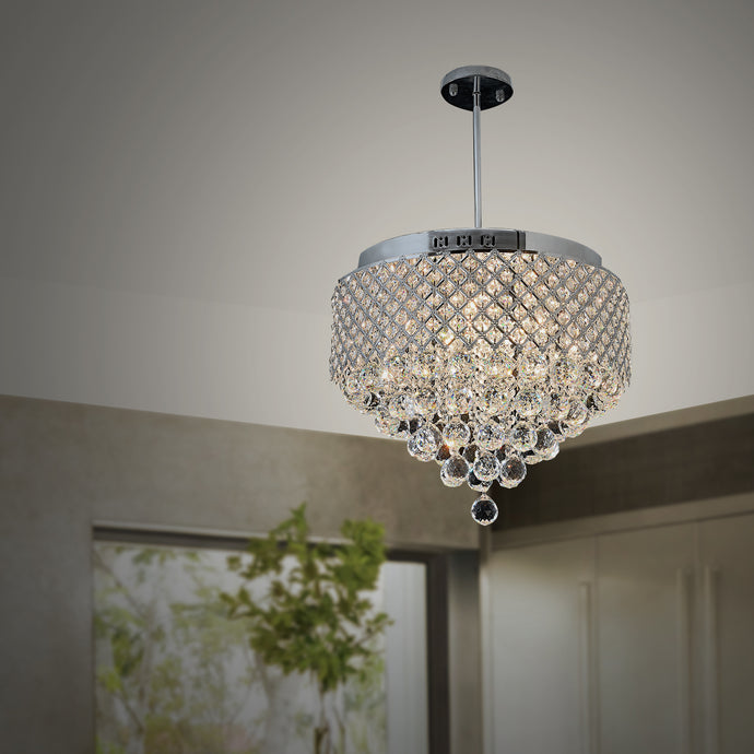 Marsala - Crystal Raindrop Semi Flush Mount Luxury Ceiling Light