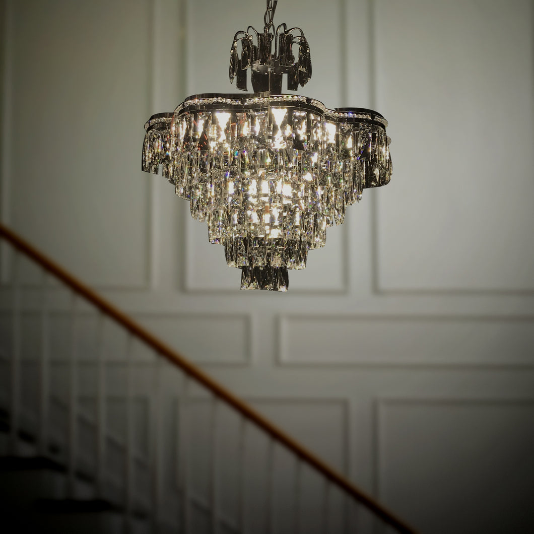 Handsome -  Modern and Elegant chandelier with large K9 Crystals